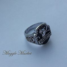 Harry #hogwarts gryffindor #house ring black lion silver #horcrux ron hermione,  View more on the LINK: http://www.zeppy.io/product/gb/2/301983393466/