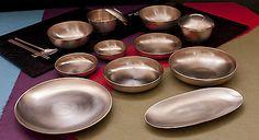 Korean Royal Court Cuisine Dinnerware Bangjja Yugi Yeon family Set for 2