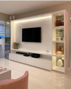 Living Room Wall Units, Living Room Tv Unit Designs, Home Living Room, Living Room Decor, Tv Unit Interior Design, Tv Wall Design, Modern Tv Room, Modern Tv Wall Units, Modern Tv Unit Designs