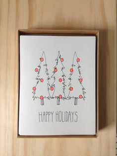 6 Pack Holiday Cards. $15.00, via Etsy.