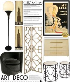 """Glitz & Glam: Art Deco #2"" by mrsjillc on Polyvore"