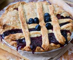 Blueberry Pear Vegan Pie... 2 small bosc pears (or one large), sliced long and thin (skin on) 2 cups fresh blueberries 1/2 cup apple cider 3 Tbsp corn starch (or arrowroot powder) 1/2 tsp vanilla extract 1/2 cup sugar 1/4 cup vegan buttery spread pinch of salt