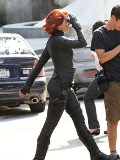 Scarlett Johansson Black Widow Costume The Avengers Photos