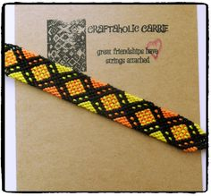 Woven Friendship Bracelet #38208 by CraftaholicCarrie on Etsy