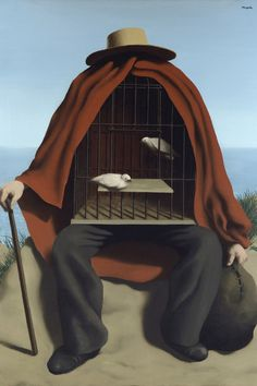 Surrealism: Rene Magritte-The-Therapist 🔻🔸🔹René Magritte ( 1898 - 1967 )… Max Ernst, Art Conceptual, Surreal Art, Salvador Dali, Rene Magritte Kunst, Magritte Paintings, Dali Paintings, Indian Paintings, Giacometti