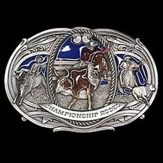 """Checkout our #LicensedGear products FREE SHIPPING + 10% OFF Coupon Code """"Official"""" Rodeo Oversized Belt Buckle - Officially licensed Siskiyou Originals product Fully cast, metal buckle Bail fits belts up to 2 inches wide Exceptional detail with an enameled finish  - Price: $29.00. Buy now at https://officiallylicensedgear.com/rodeo-oversized-belt-buckle-j180e"""