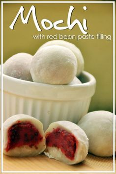 Mochi Dessert Recipe: Mochi with Red Bean Filling