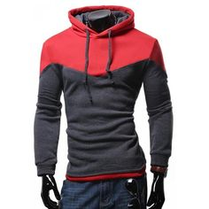 baec2602471159 Dropshipping Men's Hoodies Patchwork Two Colors Napping Casual Sweatshirt  Men Hooded Tracksuit Men Coats sudaderas