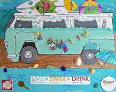 Camper Vans On Canvas