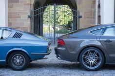 Past meets present: Audi 100 Coupé S and Audi A7 Sportback | quattroholic.com