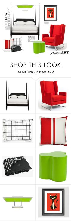 """""""Top Home Set for  January 30th, 2016 -Decorate with Graphic Art"""" by maggiecakes ❤ liked on Polyvore featuring interior, interiors, interior design, home, home decor, interior decorating, Ethan Allen, Gus* Modern, Unison and Vitra"""