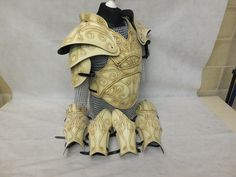 Polyurethane resin high fantasy Citadel larp armor suitable for LARP, TV, cosplay, theatre and Film Larp Armor, Pauldron, Fantasy Armor, High Fantasy, Cowboy Boots, Armour, Ivory, Cosplay, Etsy Shop