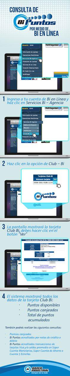 Consulta cuántos #BiPuntos has acumulado y canjéalos por tus premios favoritos. #BiEnLinea #ClubBi #ProductosYServicios #BancoIndustrial