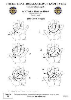 International Guild of Knot Tyers - Surrey Branch - 98 4 x 3 Turk's Head