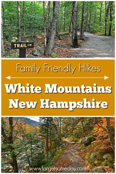 Easy Hikes in the White Mountains New Hampshire Looking for family friendly hiking trails in the White Mountains New Hampshire? Check out this post for easy hikes in and around Lincoln NH. New England States, New England Fall, New England Travel, White Mountain National Forest, Rocky Mountain National Park, Hiking Spots, Hiking Trails, Hiking Food, New Hampshire