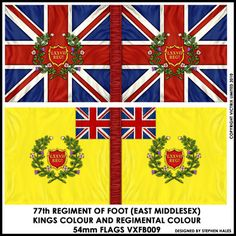 VXFB009 54mm Flags. 77th Regiment of Foot (East Middlesex).