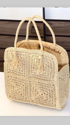 The Spectacular Crochet Bag Models Of The Ingenious Housewives Made in July Page 33 - carteras tejidas # crochet handbags for girls Bag Crochet, Crochet Motifs, Crochet Handbags, Crochet Purses, Crochet Hooks, Crochet Patterns, Bag Patterns, Design Patterns, Crochet Ideas