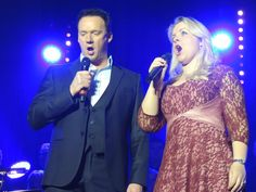 """@russellthevoice @RebeccaNewmanUK Two stunning voices, a fabulous duet & unforgettable night @CheltenhamTH Thank you!"""
