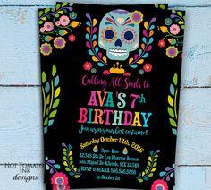 Day of the Dead Invitation Dia De Los Muertos by Hottomatoink2