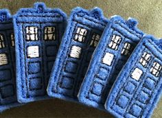 Doctor Who Tardis Inspired Blue Hair Clip by XanBella on Etsy