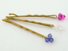 Bridal Bobby Pins Bridal Hair Pins Swarovski by Makewithlovecrafts, £7.50