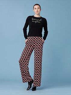 3bdc51277d20 DVF for Lingua Franca. Woven with 100% cashmere