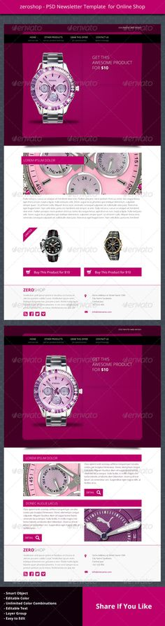 zeroshop - PSD Newsletter Template For Online Shop