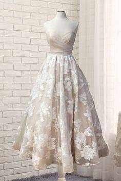 Sweetheart ivory lace long customize prom dress, ivory evening dress