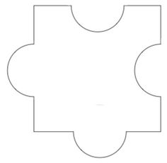 Coloring Page Puzzle Piece  Jigsaw White Puzzle Piece Large Clip