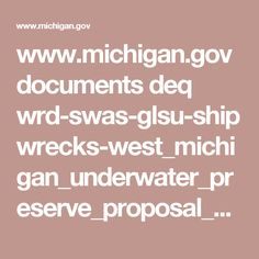 West Michigan Underwater Preserves - Coordinates and Records