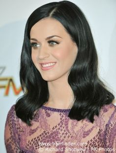 I love Katy's black hair