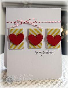 Jen Del Muro heart twine card