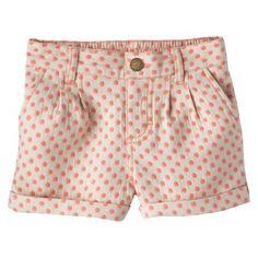 Cherokee� Infant Toddler Girls' Polkadot Chino Short - Brown Linen