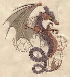 Embroidery Designs at Urban Threads - Steampunk Wyvern
