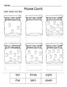 First Grade a la Carte: Mouse Count math activity Preschool Books, Preschool Math, Teaching Math, Book Activities, Teaching Ideas, Math Literacy, Math Education, Numeracy, Preschool Ideas