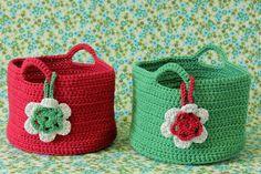 Cestas de crochet - Carolina Crochet