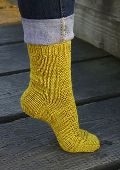 Rye socks by tincanknits. Love the texture and structure.  The pattern is a free Ravelry download.