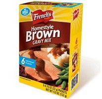 Make your own...French's® Brown Gravy Mix - 6/.75 oz. packets.  Also onion soup mix, lawry's salt, dry italian dressing, etc