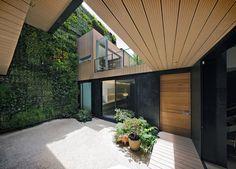 Casa CorMAnca with indoor green wall by Paul Cremoux Studio