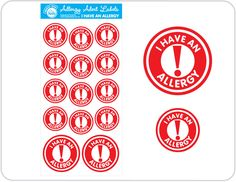 Does your child have a food allergy? Help protect your child with allergy alert labels, like peanut allergy labels. Shop online & help protect your child.