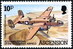 Stamp: N American (Ascension Island) (Wideawake Airfield) Mi:AC 312 Uk Stamps, Postage Stamps, Ascension Island, Crown Colony, Postage Stamp Collection, British Overseas Territories, Aviation World, The Little Prince, Stamp Collecting