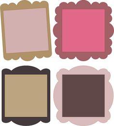 Free SVG File – 04.13.13 – Scalloped Squares | SVGCuts.com Blog