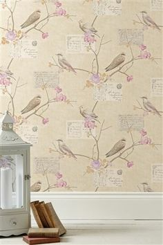 So pretty! Buy Dawn Chorus Mauve Wallpaper from the Next UK online shop