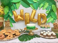 let's get wild party animals birthday party. Lots of great diy ideas for a safari or jungle themed party