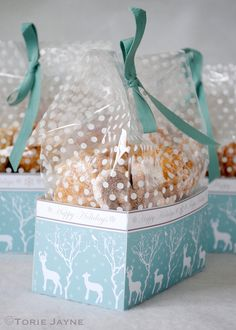 DIY Winter Woodland Treat Boxes for Homemade Christmas Gifts