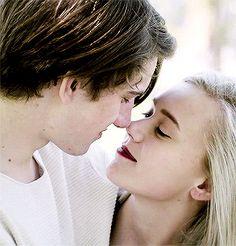 gif, kiss, and skam image