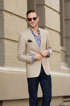 a226ae61612 100+ Professional Dress Code Smart Casual For Female and Male Beige Blazer  Outfit