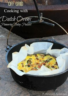 Learn how to cook off grid without electricity over an open fire with cast iron Dutch ovens. Recipes, tips, and step by step instructions to get you baking and cooking outdoors with your Dutch Oven.