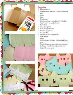 An online magazine with templates for a lot of really great and cute Christmas items, including making a village out of cereal boxes and using  muffin tin to make a cute advent calendar. templates are included. - PERFECT!!!