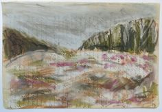 Midden Delfland, dijklichaam A4 Gouache, Painting, Painting Art, Paintings, Painted Canvas, Drawings